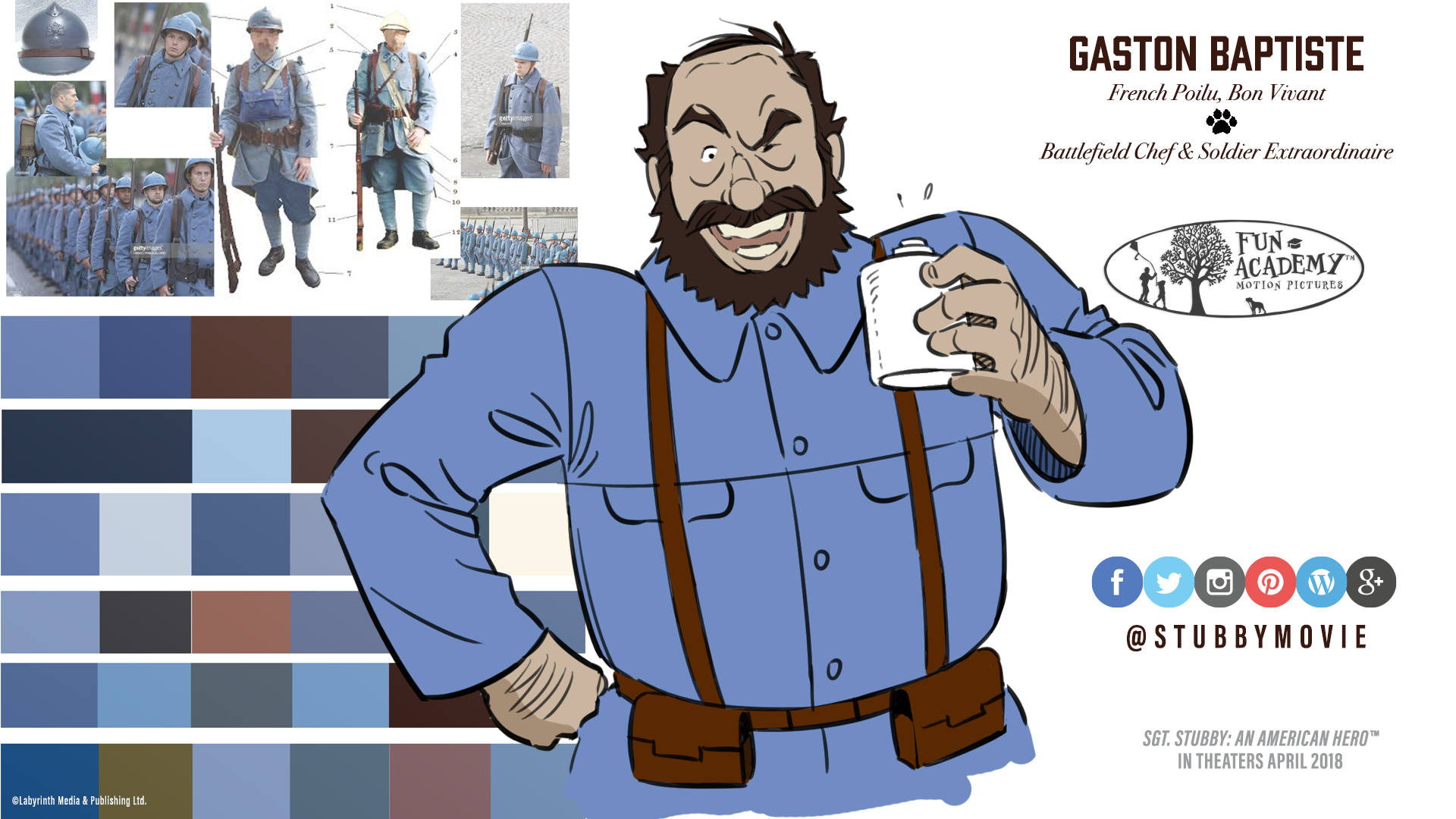 Gaston Baptiste | Character Design | @StubbyMovie