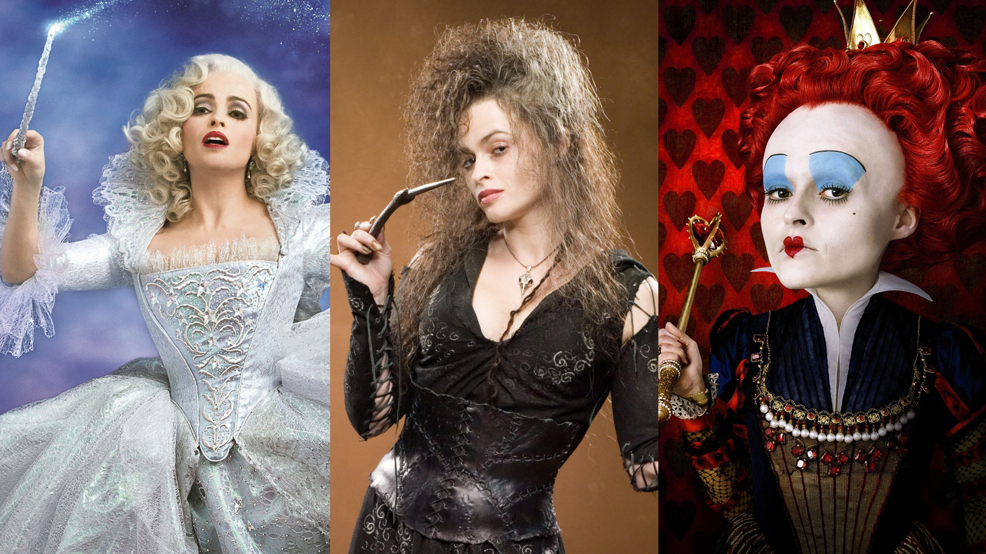 The Many Faces (and Wands) of Helena Bonham Carter